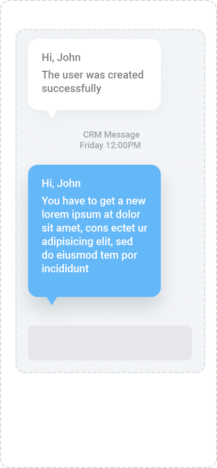 notificator SMS CRM Wippo