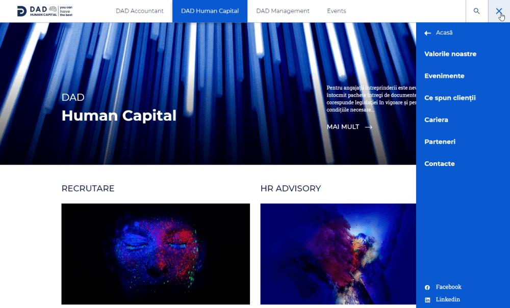 Humap Capital, Active Menu